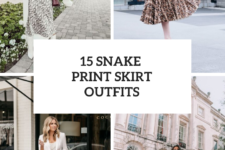 15 Look Ideas With Snake Printed Skirts
