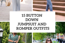 15 Looks With Button Down Jumpsuits And Rompers