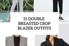 15 Outfits With Double Breasted Crop Blazers