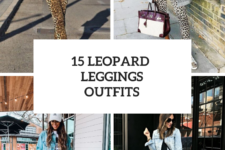 15 Outfits With Leopard Printed Leggings