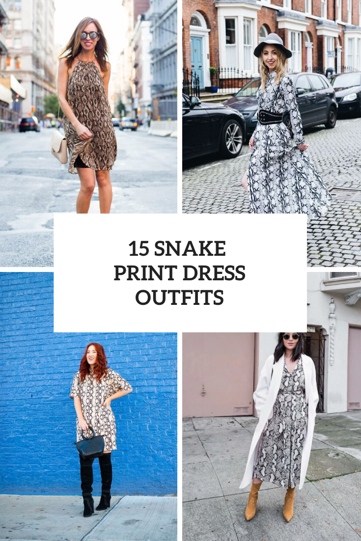 Outfits With Snake Print Dresses