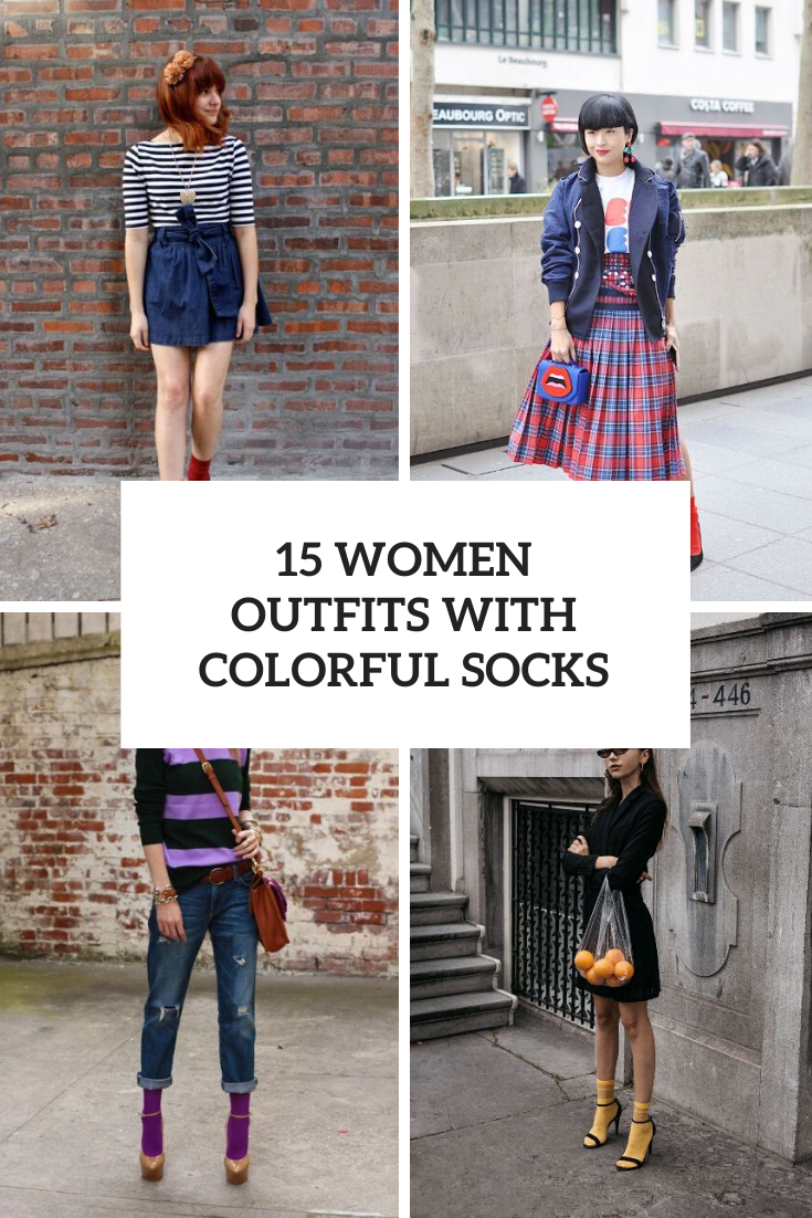 Women Outfits With Colorful Socks