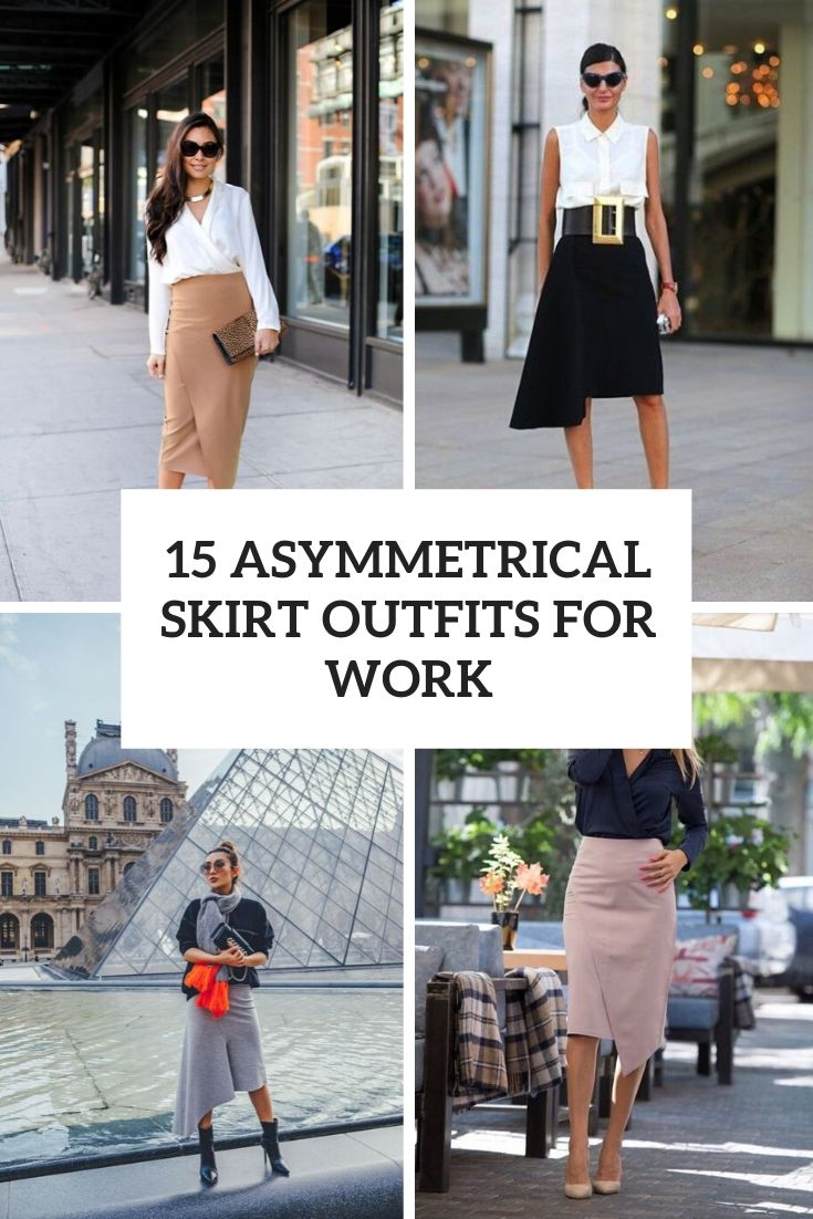 asymmetrical skirt outfits for work cover