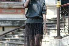a stylish look with an oversized sweater dress