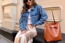 a stylish transitional outfit suitable for work