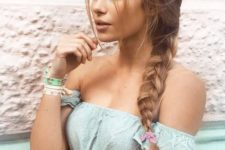05 a simple side braid with a messy top and some locks down is a timeless idea to rock