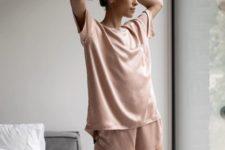a trendy looking silk pajama