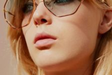 12 statement light blue honeycomb sunglasses in copper frames will make your look ultra-bold