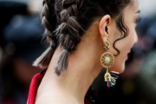 13 mini braids covering the whole head with some waves down are a cool idea for a bold look