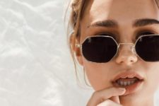 14 such trendy geometric sunglasses with a retro feel are a veyr trendy option to go for