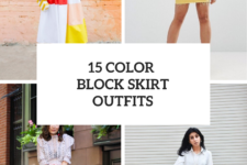 15 Amazing Outfits With Color Block Skirts