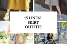 15 Charming Outfits With Linen Skirts