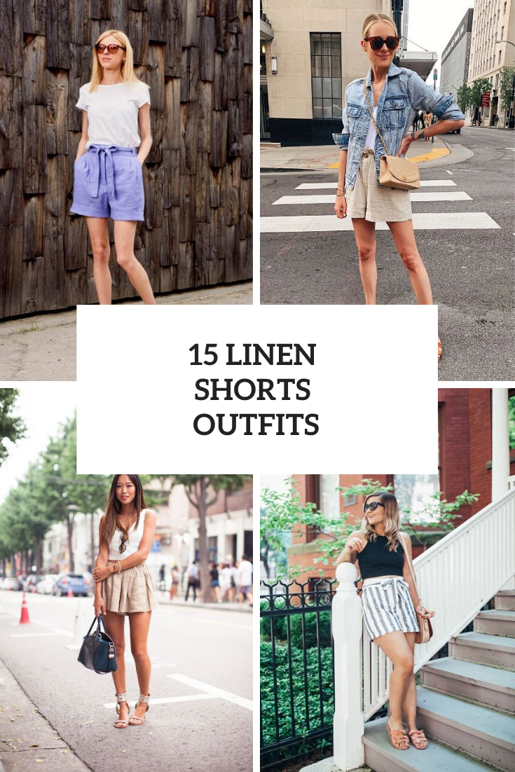 Excellent Looks With Linen Shorts
