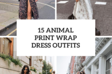 15 Outfits With Animal Printed Wrap Dresses