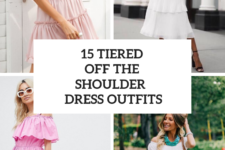 15 Outfits With Off The Shoulder Tiered Dresses