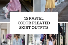 15 Outfits With Pastel Colored Pleated Skirts