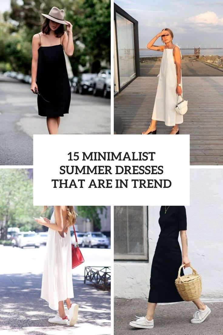 minimalist summer dresses that are in trend cover