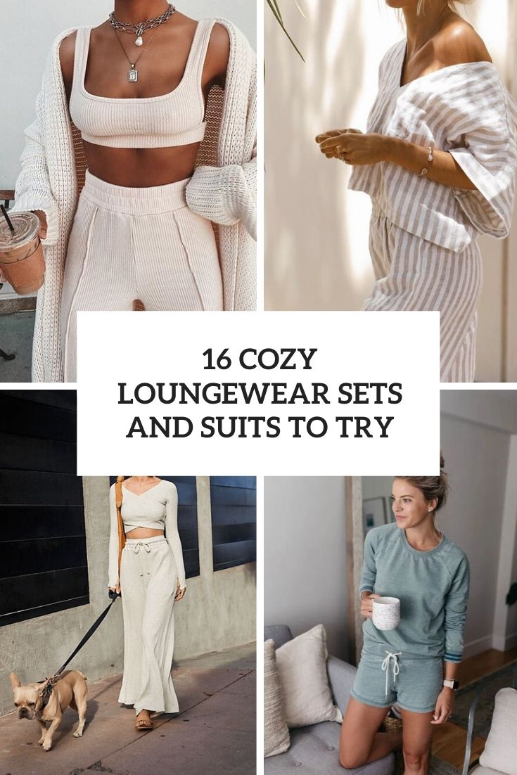 cozy loungewear sets and suits to try cover