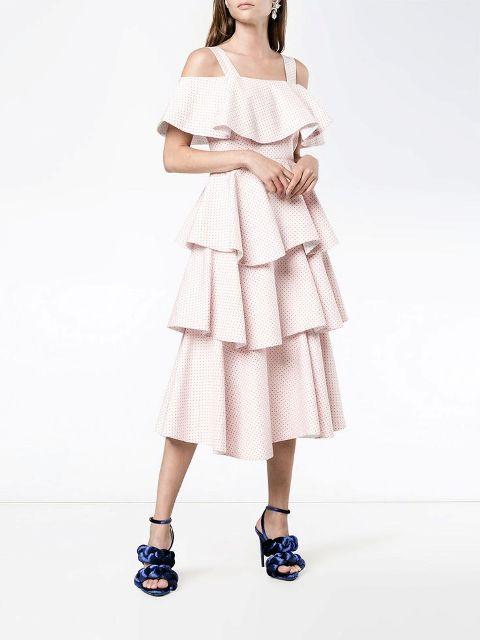 With navy blue velvet high heels