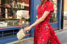 a retro look must feature a woven bag
