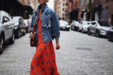 a bright floral dress is perfect for spring season