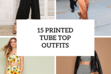 15 Cool Outfits With Printed Tube Tops