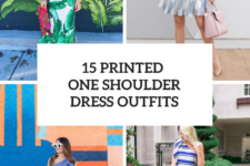 15 Look Ideas With Printed One Shoulder Dresses