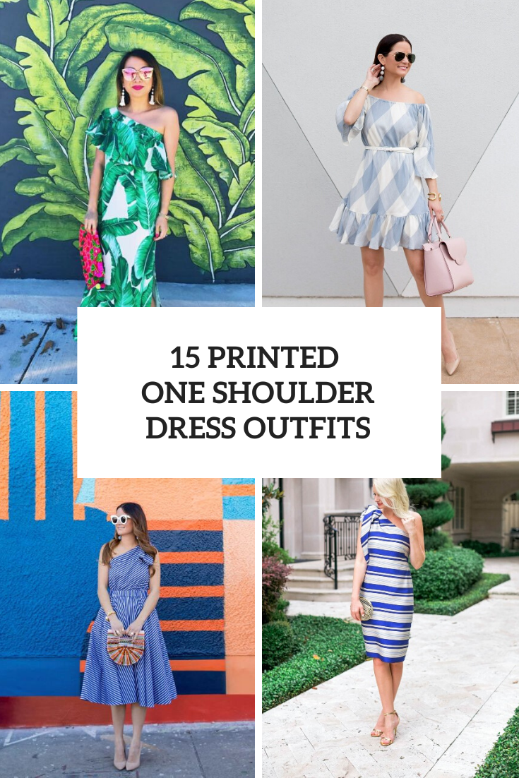 Look Ideas With Printed One Shoulder Dresses