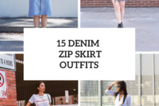 15 Looks With Denim Zip Skirts