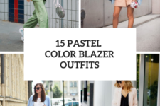 15 Looks With Pastel Colored Blazers