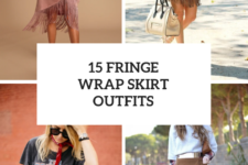 15 Outfits With Fringe Wrap Skirts