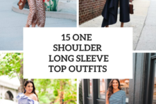 15 Outfits With One Shoulder Long Sleeve Tops