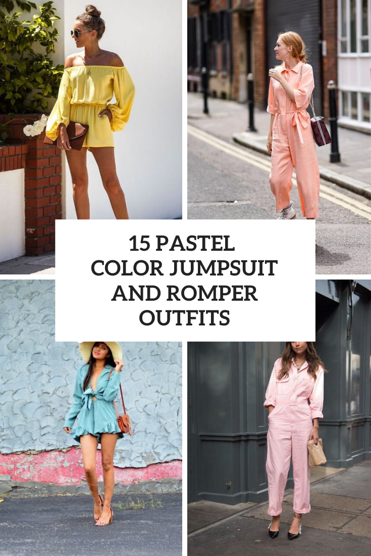 Outfits With Pastel Colored Jumpsuits And Rompers