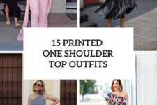 15 Outfits With Printed One Shoulder Tops