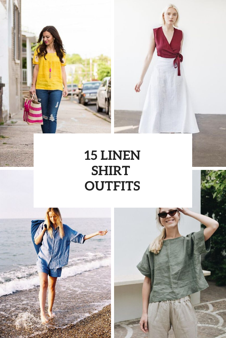 Women Outfits With Linen Shirts