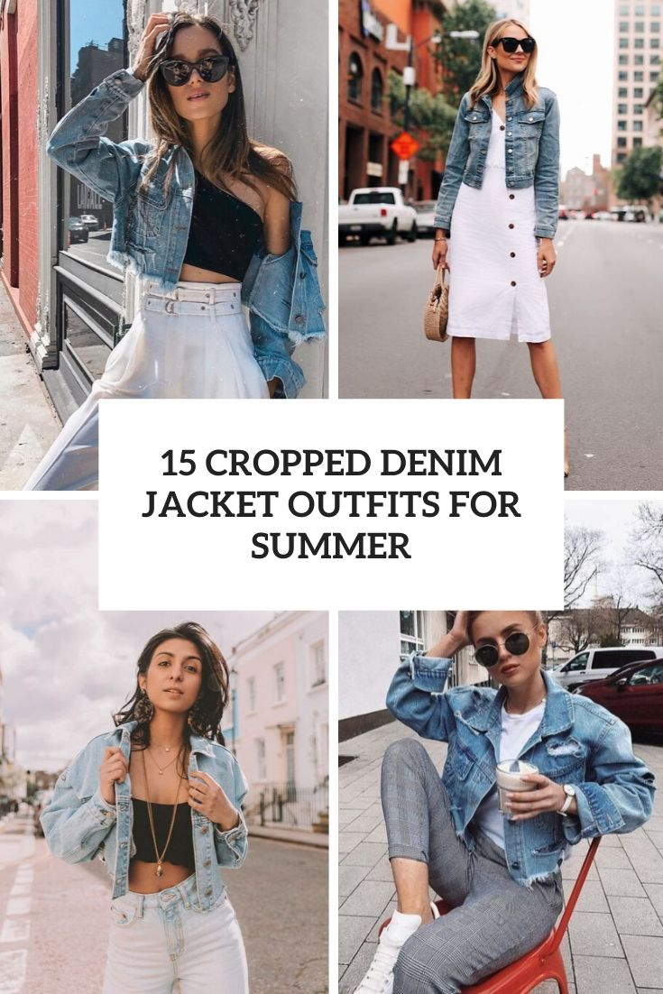cropped denim jacket outfits for summer cover