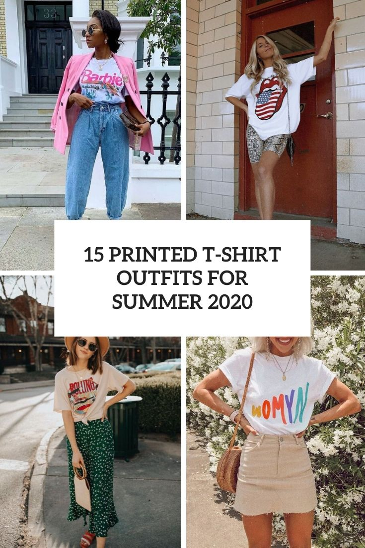 printed t shirt outfits for summer 2020 cover