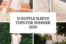 15 ruffle sleeve tops for summer 2020 cover