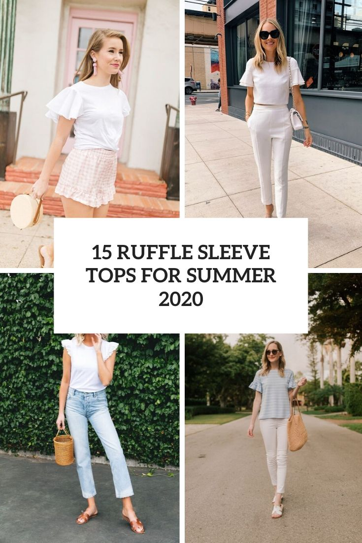 ruffle sleeve tops for summer 2020 cover