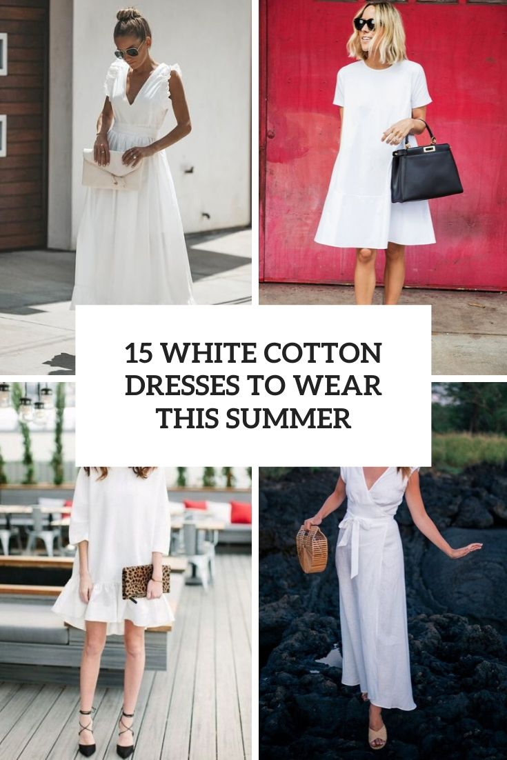 15 White Cotton Dresses To Wear This Summer