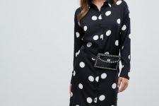 With black embellished waist bag