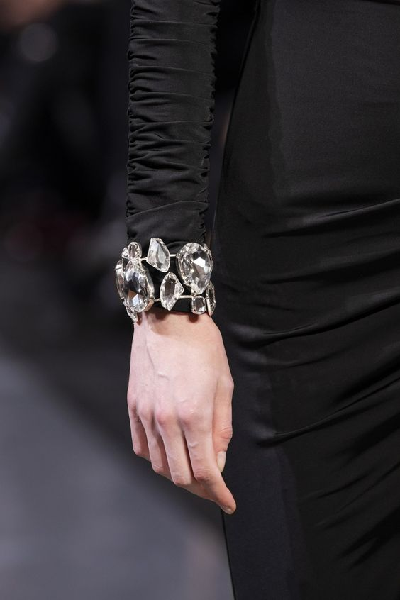a gorgeous statement rhinestone bracelet will finish off any party look or an otufit for a special occasion