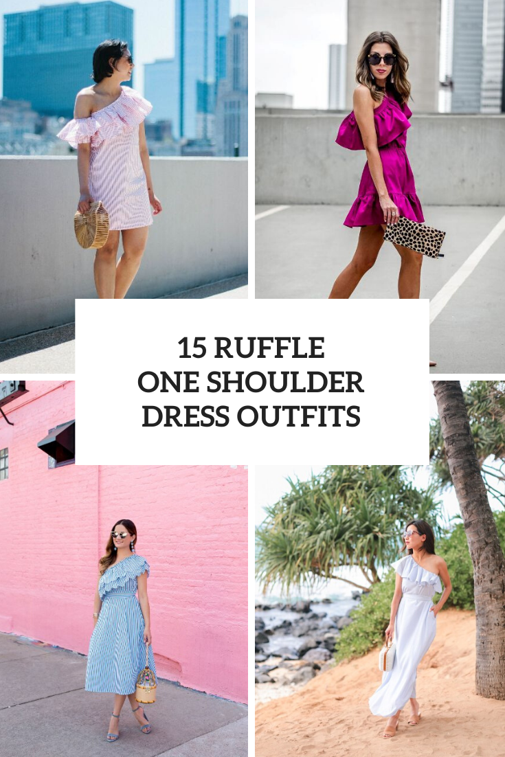 Looks With Ruffle One Shoulder Dresses