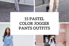 15 Outfit Ideas With Pastel Color Jogger Pants