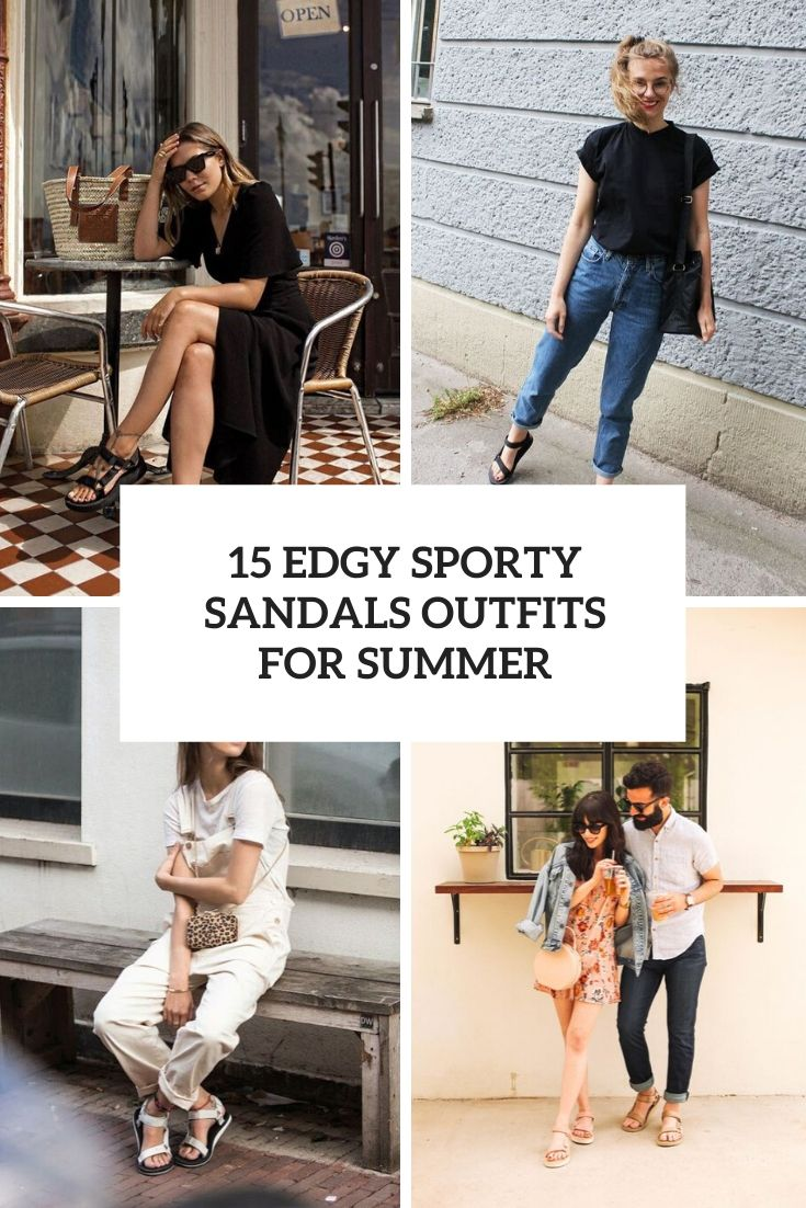 edgy sporty sandals outfits for summer cover