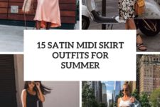 15 satin midi skirt outfits for summer cover