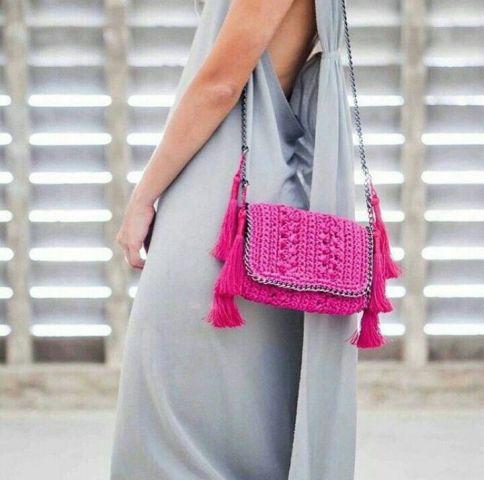 With gray midi dress