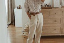 linen pants outfit