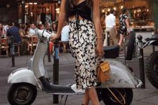 a cool summer look with a floral skirt