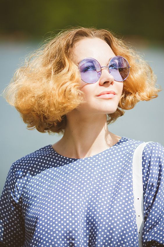 lavender oversized round sunglasses in a thin frame to accent any of your outfits